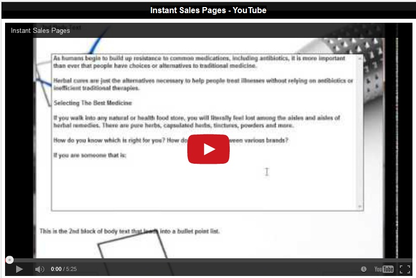 instant sales page software free wso